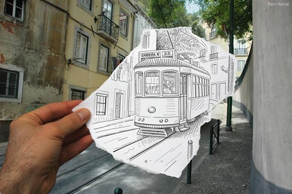 amazingly creative drawing and photography 27 in Top 30 Enhanced Reality Drawings