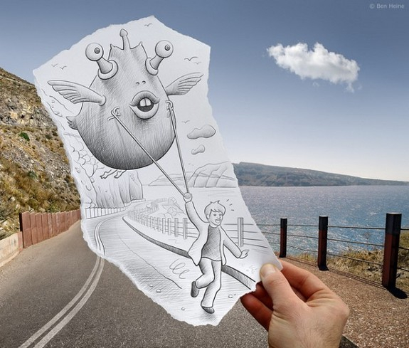 amazingly creative drawing and photography 28 in Top 30 Enhanced Reality Drawings