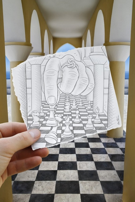 amazingly creative drawing and photography 29 in Top 30 Enhanced Reality Drawings