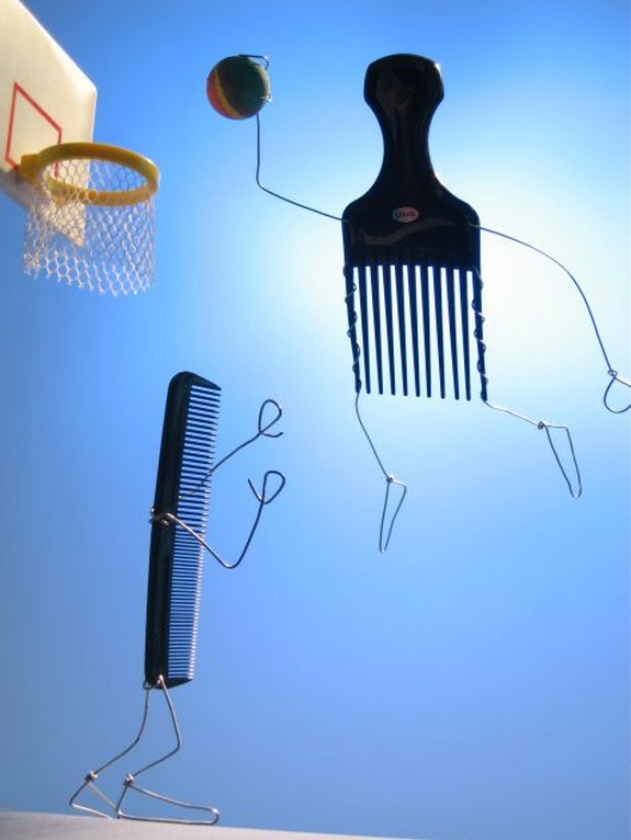 humorous and funny art of bent objects 01 in Magic of Twisting and Bending Sculpture by Terry Border