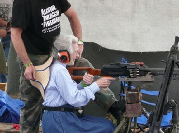 old ladys with guns 03 in Inexplicable Old Ladies With Guns Photography