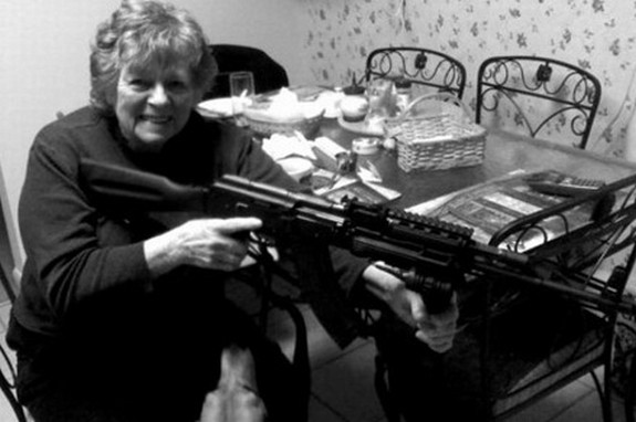 old ladys with guns 05 in Inexplicable Old Ladies With Guns Photography