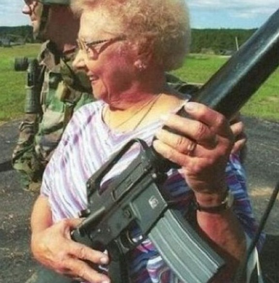 old ladys with guns 08 in Inexplicable Old Ladies With Guns Photography