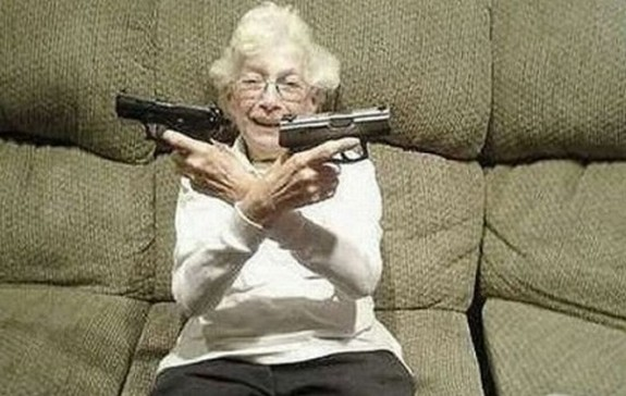 old ladys with guns 13 in Inexplicable Old Ladies With Guns Photography