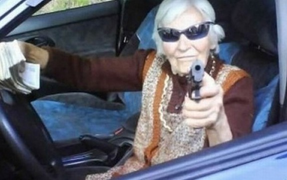 old ladys with guns 16 in Inexplicable Old Ladies With Guns Photography