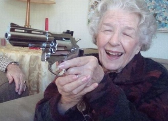 old ladys with guns 18 in Inexplicable Old Ladies With Guns Photography