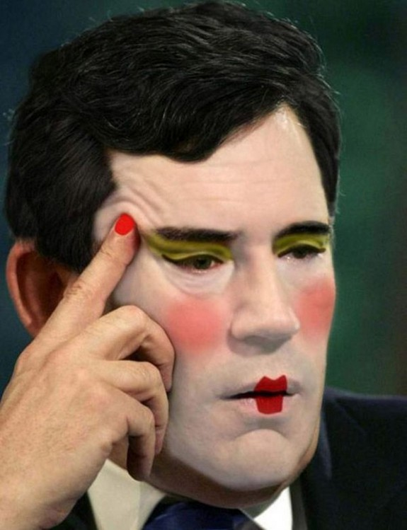 politicians with makeup 04 in 17 Wacky Photos of Politicians With Makeup