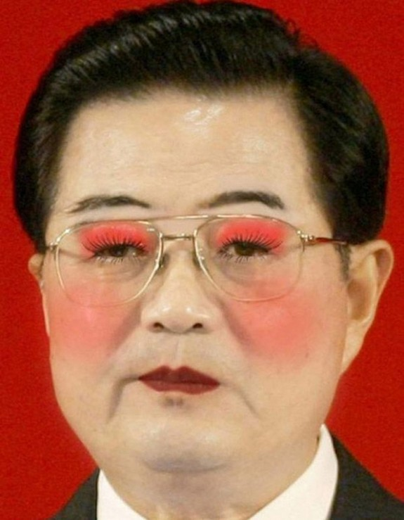 politicians with makeup 07 in 17 Wacky Photos of Politicians With Makeup