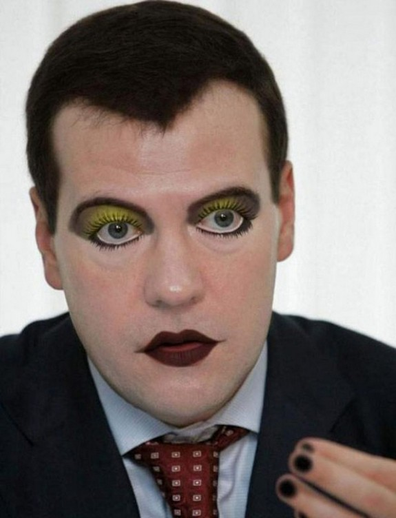 politicians with makeup 11 in 17 Wacky Photos of Politicians With Makeup