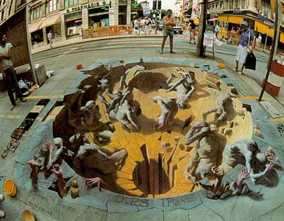 amazing art 18 in 3D Street Art on the Pavements Around the World