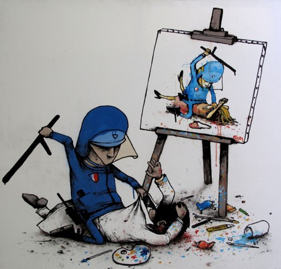 the french banksy 04 in The French Banksy: Incredible Works of Artist Dran