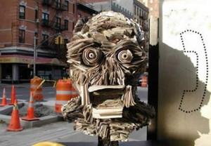 Creative Newspaper Sculptures