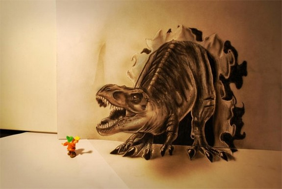 amazing 3d sketches that look as if objects are flying 02 in Amazing 3D Sketches That Look As if Objects Are Flying