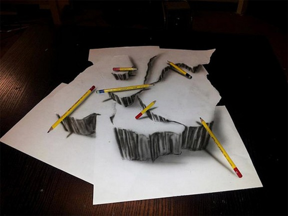 amazing 3d sketches that look as if objects are flying 03 in Amazing 3D Sketches That Look As if Objects Are Flying