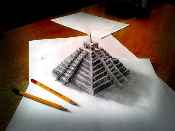 amazing 3d sketches that look as if objects are flying 05 in Amazing 3D Sketches That Look As if Objects Are Flying