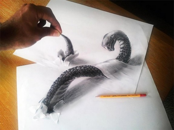 amazing 3d sketches that look as if objects are flying 07 in Amazing 3D Sketches That Look As if Objects Are Flying