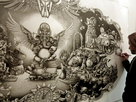 10 mind blowing mega size drawings by joe fenton 05 in 10 Mind Blowing Mega Size Drawings by Joe Fenton