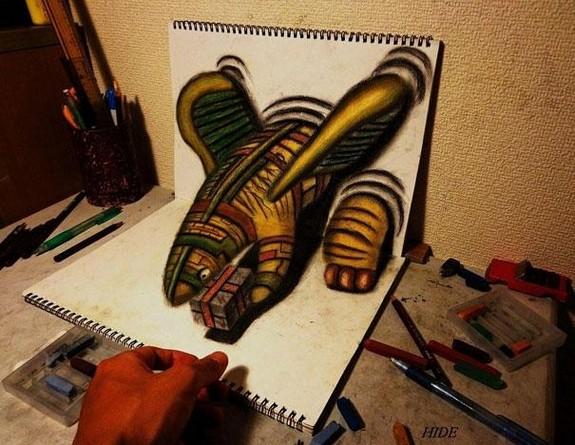 incredible 3d pencil drawings by nagai hideyuki 01 in Incredible 3D Pencil Drawings by Nagai Hideyuki