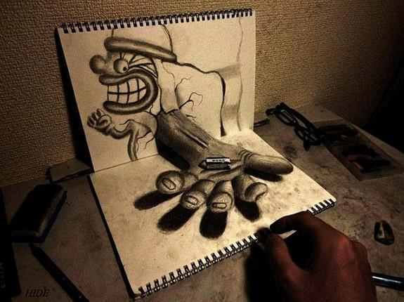 incredible 3d pencil drawings by nagai hideyuki 02 in Incredible 3D Pencil Drawings by Nagai Hideyuki