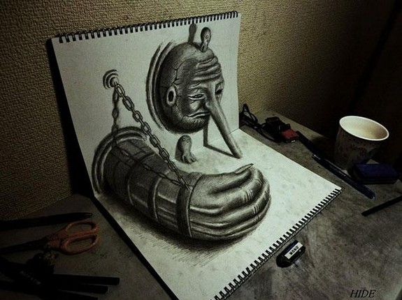 incredible 3d pencil drawings by nagai hideyuki 03 in Incredible 3D Pencil Drawings by Nagai Hideyuki