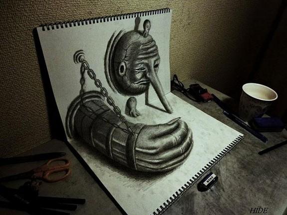 incredible 3d pencil drawings by nagai hideyuki 03 in Incredible 3D Pencil Drawings by Nagai Hideyuki