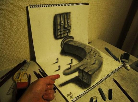 incredible 3d pencil drawings by nagai hideyuki 05 in Incredible 3D Pencil Drawings by Nagai Hideyuki