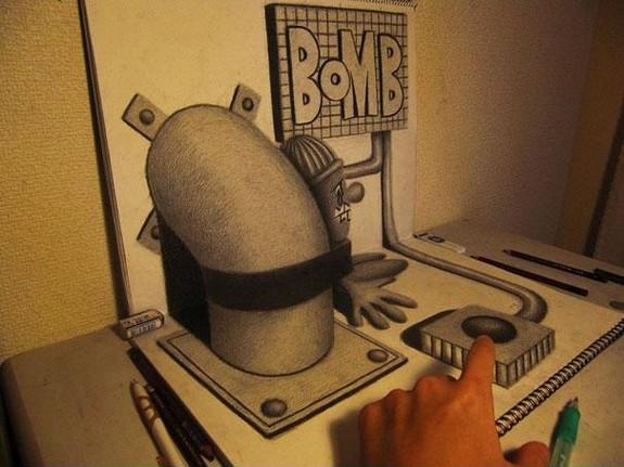 incredible 3d pencil drawings by nagai hideyuki 09 in Incredible 3D Pencil Drawings by Nagai Hideyuki