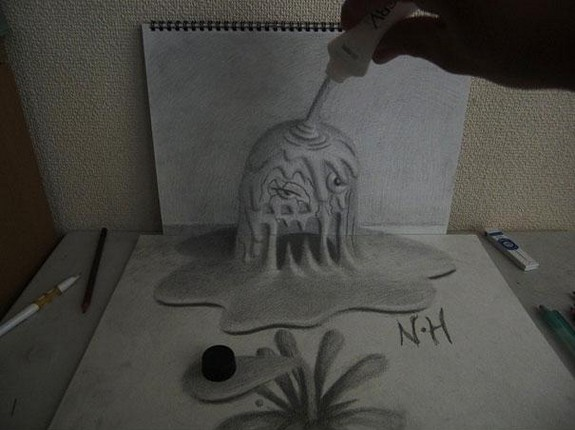 incredible 3d pencil drawings by nagai hideyuki 10 in Incredible 3D Pencil Drawings by Nagai Hideyuki