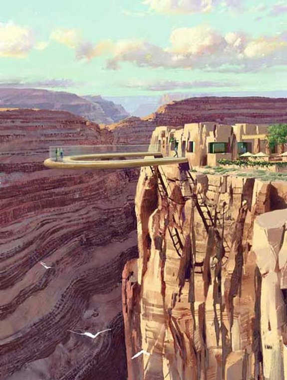 4,000 feet glass bridge above Colorado River